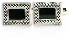 Framed Black Cufflinks