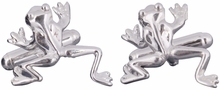 Frog Cufflinks in Sterling Silver