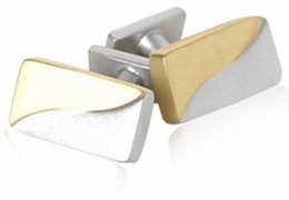 Frosted Gold & Silver Cufflinks
