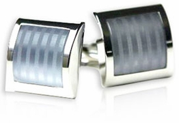 Frosted Silver Cufflinks