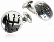 Gear Shift Cufflinks in Sterling Silver
