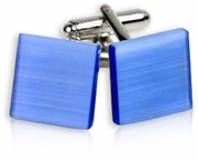 Glass Cufflinks in Blue