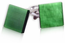 Glass Cufflinks in Green (DISCONTINUED)