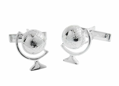Globe Cufflinks in Sterling Silver
