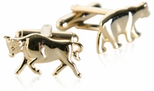 Gold Bull & Bear Cufflinks