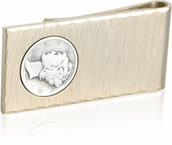 Gold Money Clip with Mercury Dime