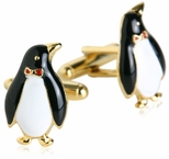 Gold Penguin Cufflinks