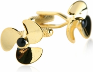 Gold Propeller Cufflinks