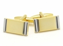 Gold Silver Bar Cufflinks