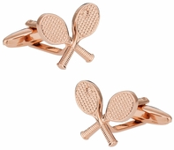 Rose Gold Tone Tennis Cufflinks