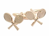 Goldtone Tennis Cufflinks