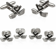 Golf Formal Set Cufflinks Studs