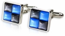 Gray & Blue Cufflinks