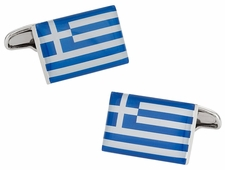 Greece Flag Cufflinks