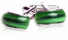 Green Fiber Optic Cufflinks