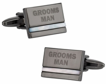Groomsman Cufflinks with Mother of Pearl
