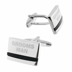 Groomsman Cufflinks with Onyx