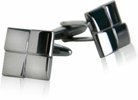 Gun Metal Square Cufflinks