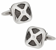 Gunmetal and Silver Cufflinks