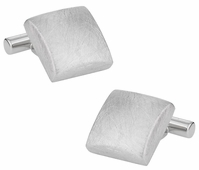 Hand Brushed Silver Cufflinks