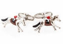 Hand Painted Horseracing Cufflinks