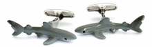Hand-Painted Shark Cufflinks