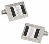 Heritage Onyx and Mother of Pearl Cufflinks