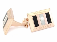Heritage Rose Gold Semi Precious Cufflinks