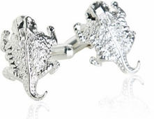 Horny Toad Cufflinks in Sterling Silver