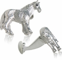 Horse Cufflinks with Swarovski Eyes