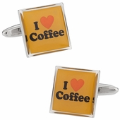 I Love Coffee Cufflinks
