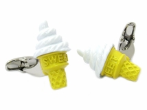 Ice Cream Cone Cufflinks