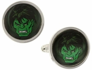 Incredible Hulk Green Face Cufflinks