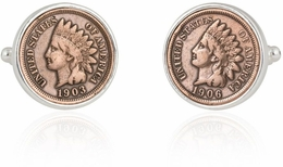 Indian Head Penny Coin Cufflinks