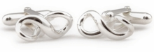 Infinity Cufflinks in Sterling Silver
