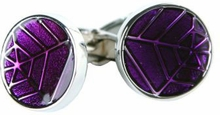 Intricate Purple Cufflinks