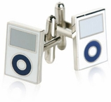 MP3 Cufflinks in White