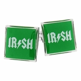 Irish Cufflinks in Green