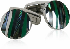 Jade & Abalone Stripes Cufflinks