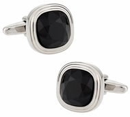 Jet Black Crystal Cufflinks