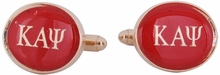Kappa Alpha Psi Red Gold Cufflinks
