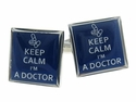 Keep Calm Doctor Cufflinks