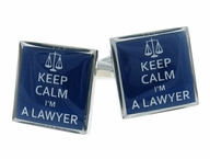 Keep Calm Lawyer Cufflinks