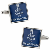 Keep Calm Wedding Cufflinks
