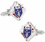 Knights of Columbus Silvertone Cufflinks