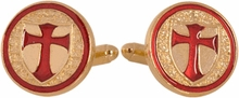 Knights of Templar Gold Cufflinks