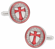 Knights of Templar Silver Cufflinks