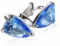 Large Blue Glass Cufflinks