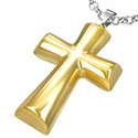 "Large Gold ""Rock Star"" Cross pendant"
