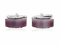Lavender Glass Cufflinks